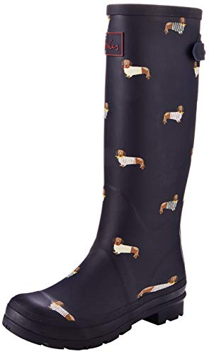 Joules Welly Print, Botas de Agua Mujer, Azul (Navy All Over Dogs Nvyalodogs), 36 EU