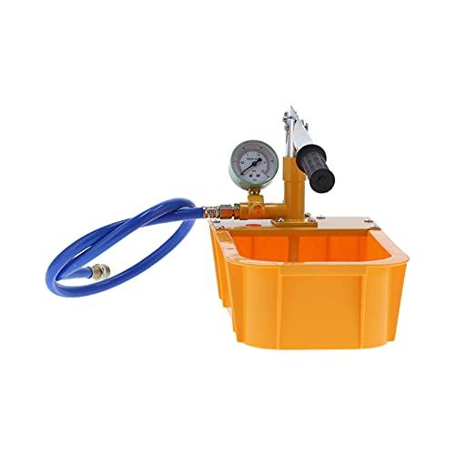Pokerty9 Probador de presión de tuberías, probador de presión de Agua Aleación de Aluminio y plástico para petróleo para la construcción para la Industria química para plomería