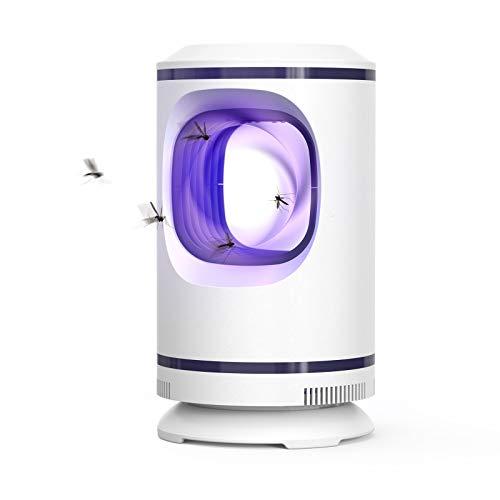ZORNIK Lámpara Antimosquitos Eléctrico,UV LED Mosquito Lámpara Trampa,Adecuado para Cocina, Sala de Estar, Dormitorio,Jardín (Blanco)