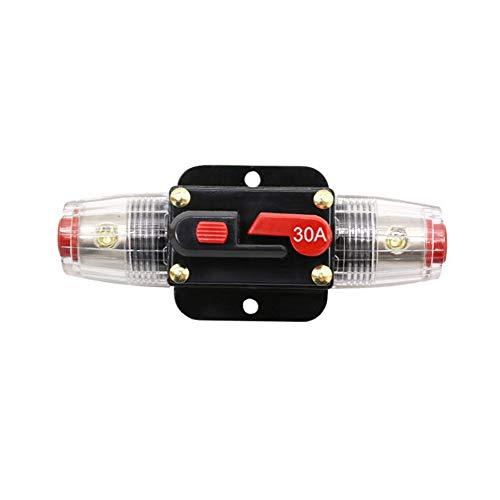 Interruttore di circuito per auto, Interruttore di circuito audio per auto Portafusibile per interruttore di circuito CC 12V-24V Interruttore di ripristino manuale Fusibile audio per auto, 20-100A