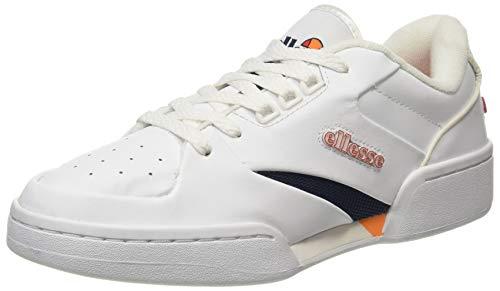 ellesse Tremiti, Zapatillas Mujer, Multicolor (White/Dark Blue/Orange Wht/Dk BLU/Org), 38 EU