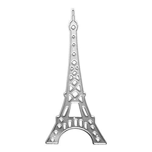 U-horizon Torre Eiffel Troqueles de Metal Cutting Dies Eiffel Tower Dies Corte Plantillas Estarcir para Tarjeta, Papel Decoración, Álbum DIY Scrapbook, Regalo