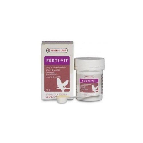 Versele-Laga Ferti-Vit 25 gr, (mezcla equilibrada de vitaminas, aminoácidos y oligoelementos). Para pájaros