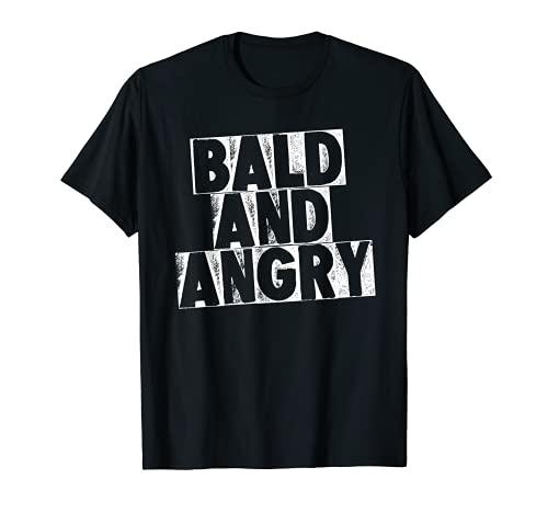 Camiseta hombre calvo y enojado Camiseta