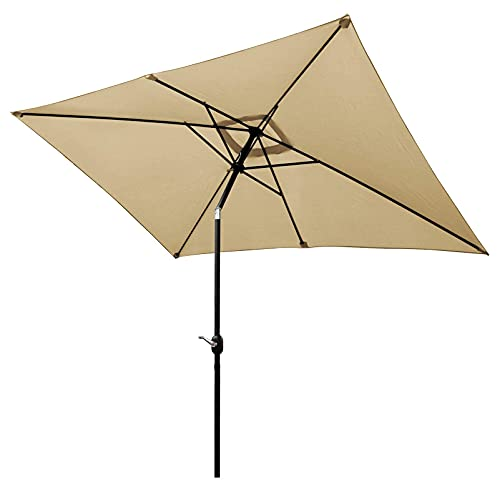 CHOICEHOT Rectangular Patio Umbrella 6.5 x 10 ft Outdoor...