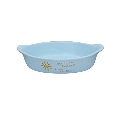 STRAW Plato de cerámica Colorido para Hornear Cuenco de Postre Ramekin Baker Plato de Cena Redondo con asa Platos de Pasta vajilla para el hogar (Color : B)
