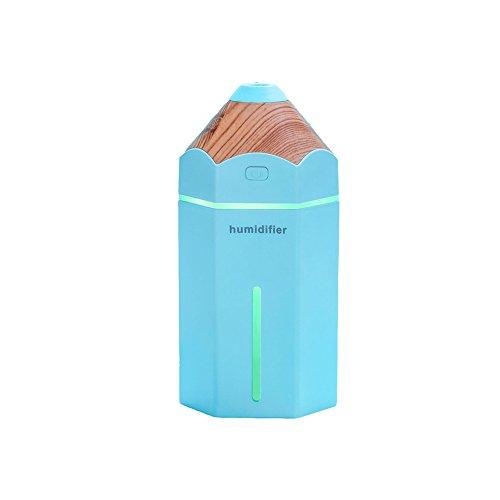 Aromathérapie Huile Essentielle Diffuseur Cool Mist Humidificateur 230Ml Ultrasons Lumière LED Parfait pour La Maison, Bureau, Salon, Spa,Blue