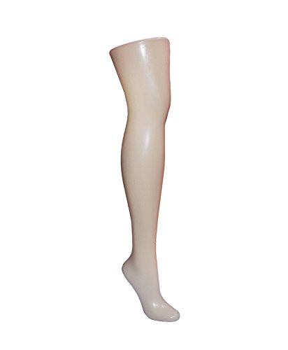 AMKO R12B Single Leg Mannequin – Free Standing Leg Form with Metal Base, Single Leg Display for Socks, Pant Display. Clothing Forms