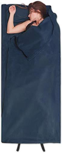 normani Fleece Schlafsack Hüttenschlafsack Inlet Liner - leicht, praktisch und warm [190 x 75 cm - 200g/m²] Farbe Navy