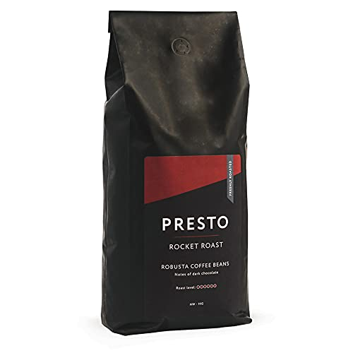 Presto Rocket Roast 1KG Kaffeebohnen, dunkel geröstete vietnamesische Single Origin-Robusta-Kaffeebohnen für den Koffein-Kick - 100 {875e5be6036bf95b741134ccf4c79c21857e9909369fdfd9cf5d9d87cd29759c} ganze Robusta-Kaffeebohnen