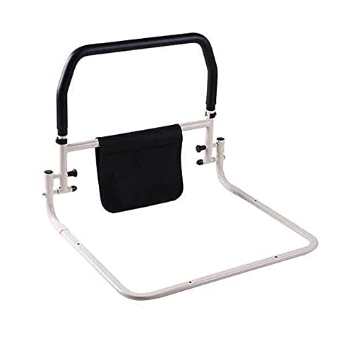 CQILONG Side Guard Safety Auxiliary Handle, Collapsible Punch-free Sun Protection Handrails for The Elderly, High Carbon Steel Frame for Child Pregnant Woman (Color : Black White, Size : 57X50cm)