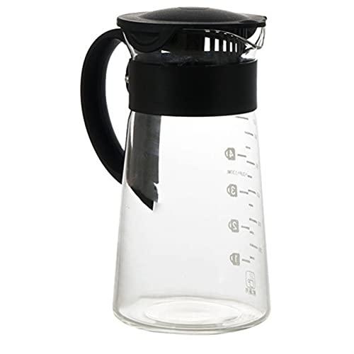 Fabricante de café de vidrio Fabricante de café Extracto frío Botella de agua con cerveza con hielo Botella de agua sin óxido Pote de café (Color : Photo color)
