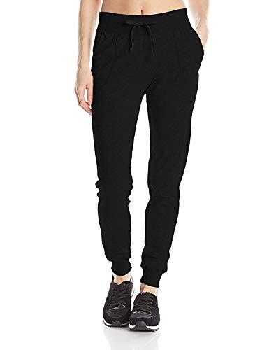 Champion Women's Jersey Pocket Pant, Black, Medium