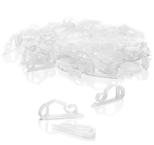 com-four® 50x Dachrinnenhaken für Lichterketten - Regenrinnen-Haken aus Kunststoff - Befestigung für Weihnachtsaußenbeleuchtung