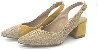 Binbon - Bayan Hasır Topuklu Ayakkabı 6 CM Topuk