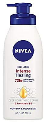 NIVEA Intense Healing Body Lotion - 72 Hour Moisture For Dry to Very Dry Skin - 16.9 fl. oz. Pump Bottle