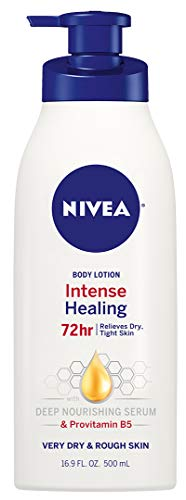 NIVEA Intense Healing Body Lotion - 72 Hour Moisture for Dry to Very Dry Skin - 16.9 Fl Oz Pump Bottle