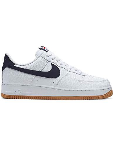 Nike Men's Air Force 1 07 2 Basketball Shoes, Multicolour (WhiteObsidian University Red 100), 7.5 UK