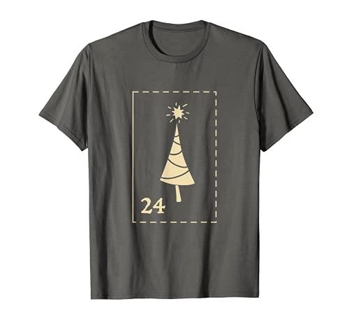 Tag 24 Adventskalender Weihnachts Geschenk T-Shirt