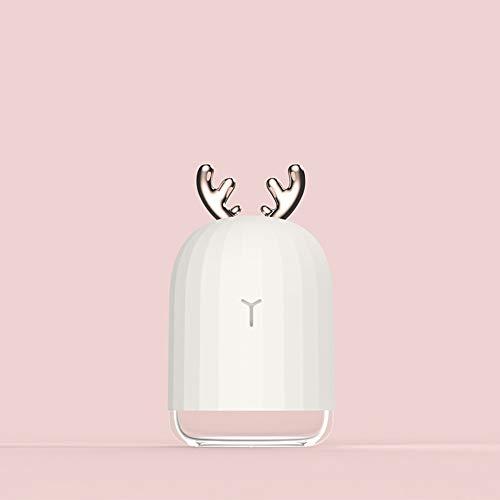 Hongfei Luftbefeuchter Diffuser Mini USB Niedlichen Hirsch Kaninchen 220 ml Kreative Bunte Nachtlicht Nebel Aroma Diffusor Tragbare 5 v 2 watt 220 ml Asthma Zerstäuber Inhalator