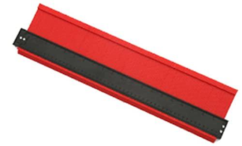 型取りゲージ コンターゲージ 測定ゲージ 不規則な測定器 輪郭ゲージ 曲線定規 DIY用測定工具 角度測定 多機能 カーペットの敷設 タイル取り付け 500mm 250mm 140mm 120mm (幅広500mm(赤))