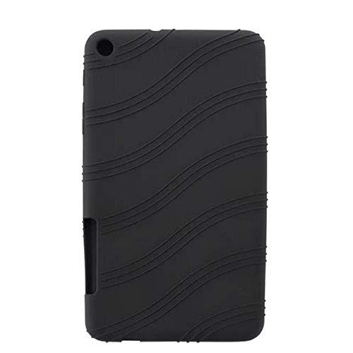 Cubierta Posterior de Silicona Suave para Huawei MediaPad T1 701U 7'360 Funda de Tableta Protectora Completa para Huawei T1 7.0 T1-701u Coque Case-Negro