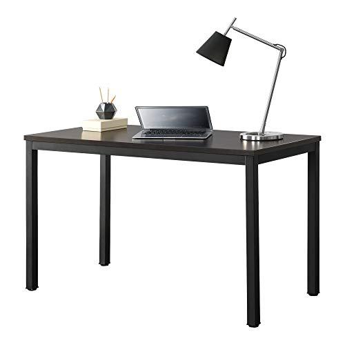 [en.casa] Mesa Escritorio Odense Escritorio de Ordenador 75 x 120 x 60 cm Mesa para jóvenes Mesa de Oficina Mesa de Trabajo Negro y Color Nogal
