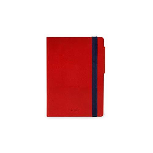 Legami - Agenda Giornaliera 16 Mesi 2020/2021 Small, Red - 9.5 x 13.5 cm