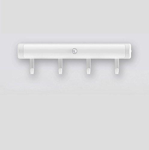 Smart led-inductiekast, lichtregeling + lichtsensor met haken, creatieve gang, slaapkamer, woonkamer, kledingkast