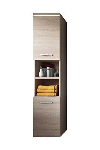Schrank Paso 160 cm Höhe Sonoma Eiche - Schrank Hochschrank Badezimmer Möbel