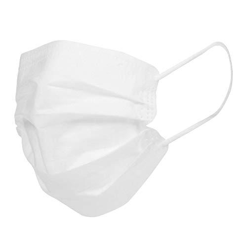 Iris Ohyama, Paquete de 200 mascarillas quirúrgicas desechables tipo II, 3 capas, Easy Fit V Design, elásticos anti-irritación - Disposable Medical Mask PN-W-L-50P - Polipropileno, Blanco, 17.5 x 9 cm