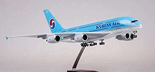 NUOYAYA Druckguss Flugzeug Legierung Flugzeug Modelle Flugzeug Spielzeug Kit Korean Air Airbus 380 Simulation Zivil A380 Handwerk Retro Metall Souvenir Wohnkultur Ornament Spielzeug Airbus