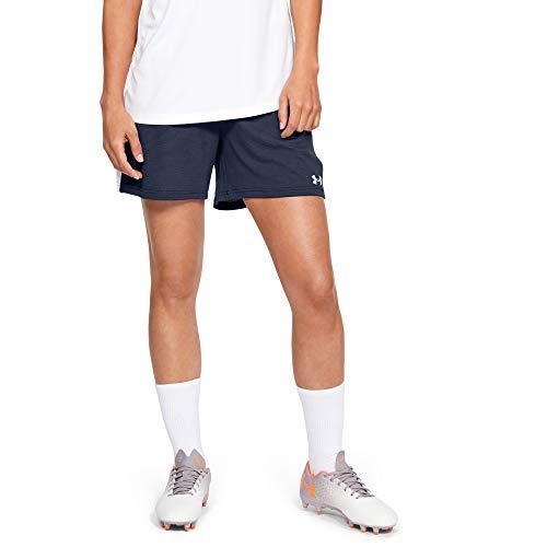 Under Armour Women's Microthread Match Soccer Shorts , Midnight Navy (410)/White , Medium