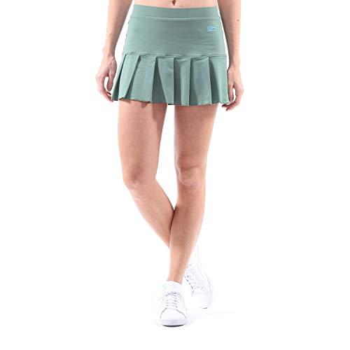 SPORTKIND niñas y Mujeres Tenis/Hockey sobre césped/Golf/Falda Plisada, Verde Oliva, Talla: 4 años