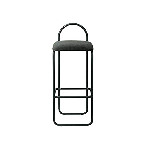 Stuhl Home Zurück Make-up-Stuhl Schmiedeeisen-Metall Kaffeemaschine Sessel Mode Einfacher moderner Stab-Stuhl (Farbe: Schwarz, Dunkelgrün, Weinrot) LD0117 (Color : Dark Green)