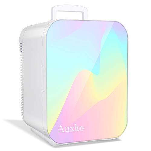 AUXKO Mini Refrigerador Portátil de 15 Litros/22 Latas, para maquillaje, Mini Frigobares para cuidado de la piel, Nevera Compacto y...