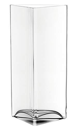 Leonardo Centro vaas driehoek, B/H/D: 18,3/34/10 cm, handgemaakt helder glas, 046942