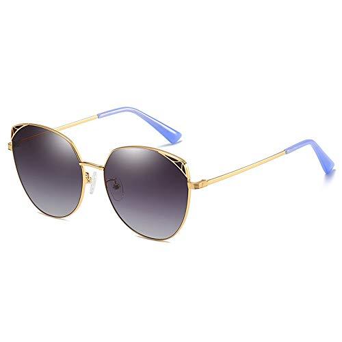 CZZ Zonnebril Vrouwen Oversize,Vintage Spiegel Aviator Zonnebril Voor Vrouwen Metalen Frame, UV400,Outdoors Reizen Rijbril (kleur : Grijs poeder)