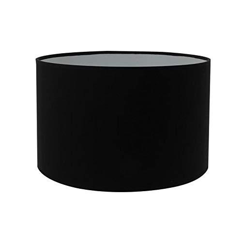 Générique Abat-Jour Forme Cylindre - ø 19 x h 14 cm - Polycoton - Noir