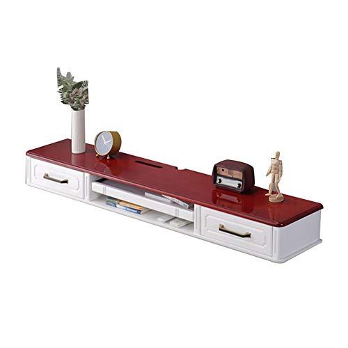 Hängeschrank Fernsehschrank, TV Lowboard Hängeboard, TV-Hängeschrank, große Kapazität, kann Router, Mediaplayer usw. speichern, geeignet für Wohnzimmer, Schlafzimmer, Multimedia-Raum/B / 150×2