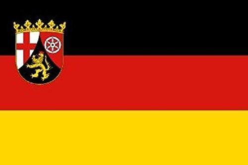 U24 Fahne Flagge Rheinland-Pfalz Bootsflagge Premiumqualität 20 x 30 cm