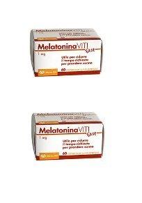 2 x Melatonina Viti Fast 60 cpr Gusto Arancia - Riduce il tempo richiesto per prendere sonno