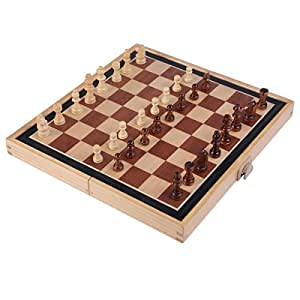 Homemariチェス木製チェスセット折りたたみ式チェスセット大型チェス折りたたみ式チェスチェスゲームボード