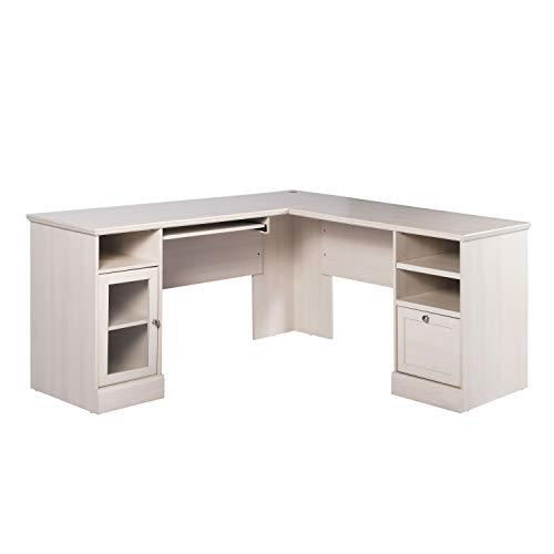 62' x 62' L-Shaped Executive Desk with Drawers & Cabinet,Office Corner Computer Desk,Writing Study Table,PC Laptop Table,Modern Study Workstation for Home Office & Den,White