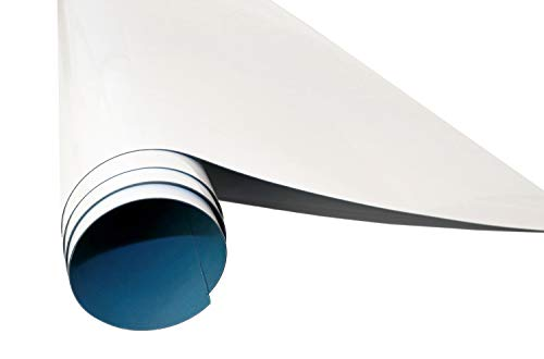 Queence | Selbstklebende Magnetische Whiteboard Folie | Weißwandtafel | Whiteboard | Schreibtafel | Folie | Wandfolie | Multifunktionstafelfolie | Farbe: Weiß, Größe:70x50 cm