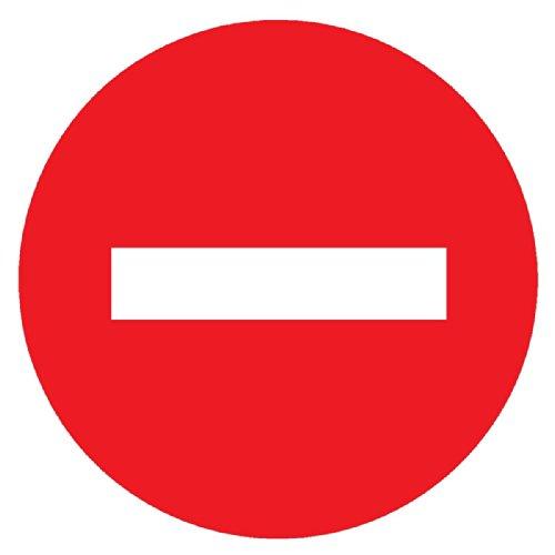 Novap 4060101 Panneau de Signalisation sens interdit, Blanc et Rouge