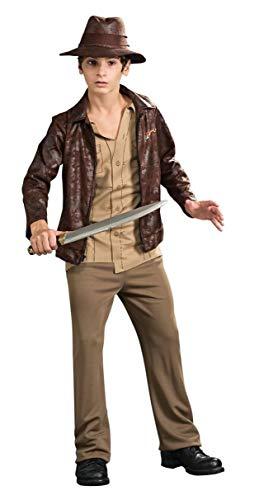 Rubies Indiana Jones and The Kingdom of The Crystal Skull Deluxe Indiana Costume, Tween Size