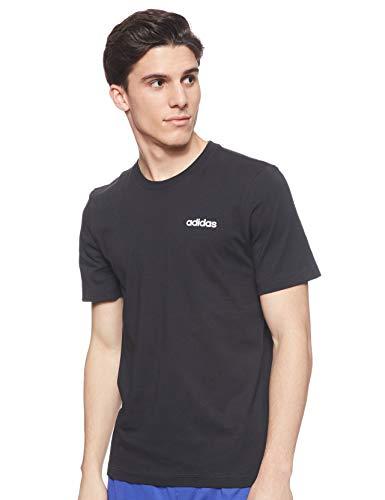 Adidas Men's Plain Regular fit T-Shirt (DU0367_Black/White M)