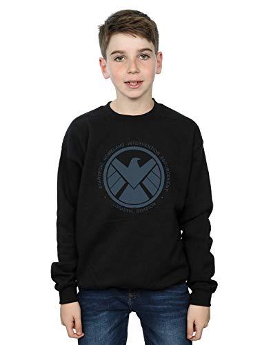 Marvel Niños Agents of S.H.I.E.L.D. Logistics Division Camisa De Entrenamiento Negro 5-6 Years