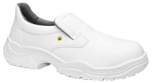 ELTEN Sicherheitsschuhe WHITE SLIPPER Low ESD S2, Herren, leicht, weiß, Stahlkappe - Größe 46